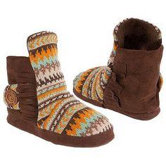 Muk Luks Jaci Desert Fairisle Boots (Golden Sunset) - Women's Boots - 18.0 OT