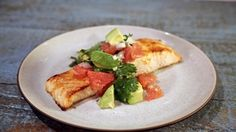 Easy Broiled Salmon with Avocado Grapefruit Salsa Recipe - Clinton Kelly ~ The Chew Cube Grapefruit and Avocado for best presentation. Jen interested in this recipe!