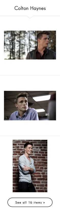 """""""Colton Haynes"""" by take-me-away-now ❤ liked on Polyvore featuring colton haynes, teen wolf, boys, guys, people, home, home decor, models, colton and holland"""