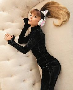 ARIANA GRANDE WIRELESS CAT EARS HEADPHONES  #KIMILOVEE  #THEWIFE  PLEASE DON'T CHANGE MY CAPTIONS OR YOU'LL BE BLOCKED!