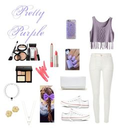 """""""Untitled #148"""" by sofiaaaamdc ❤ liked on Polyvore featuring moda, River Island, Converse, GUESS, Casetify, Ilia, Everest, Effy Jewelry, Bobbi Brown Cosmetics y Laura Geller"""