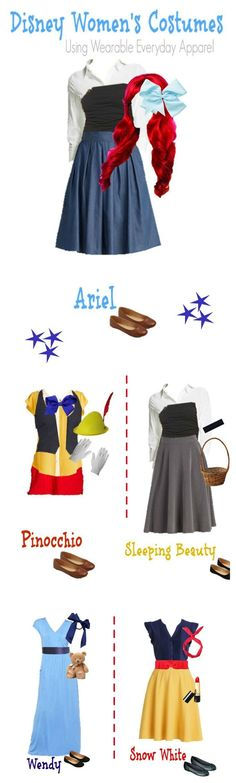 Pull together one of these five amazing Halloween Disney costumes using items you already have in your closet! We'll show you how to do it! #diyhalloweencostumes
