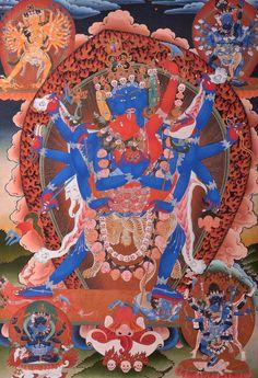 Thangka: Chakrasamvara Feliz Buda tibetano