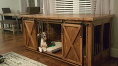 My diy dog crate furniture build.