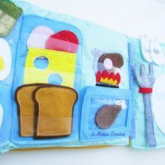 Quiet Book - Libro sensoriale - LIbro tattile - Cucina - kichen page - best - cute - Cover - Rosa - Auto - Cintura - Sicurezza - Bambini - https://www.alittlemarket.it/boutique/la_medusa_creativa-3103786.html