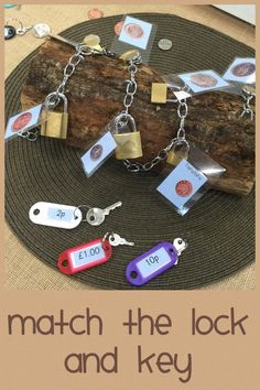 Padlock money log can do with sounds Maths Eyfs, Numeracy Activities, Money Activities, Eyfs Classroom, Outdoor Classroom, Reception Classroom Ideas, Classroom Displays Ks1, Nursery Activities Eyfs, Money Games