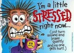 cool stress cartoon