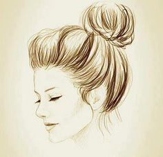 Cute drawing idea, just a side angled portrait love the detail in the hair.