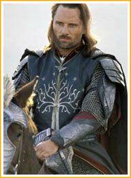 Aragorn wears the Tree of Gondor