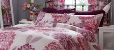 Our Plum Lucy Bedding Soft Furnishings, Linen Bedding, Pantone, Plum, My House, Blinds, Comforters, Bedroom Ideas, Decorating Ideas