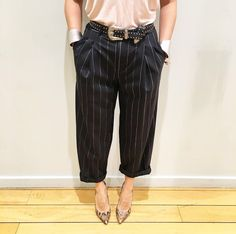 Pinstripes are back in a big way, we're wearing ours in a mensy fit with studded silver accessories. #TopshopStyle