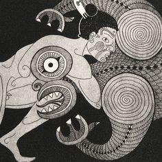 Maui wrestles the Taniwha Abstract Sculpture, Sculpture Art, Metal Sculptures, Bronze Sculpture, Maori Legends, Maori Patterns, Polynesian Art, Maori Designs, Nz Art