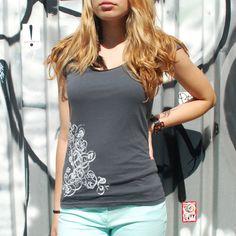 Silkscreen womens top deco design SXL silkscreen by kimmchi, $28.00