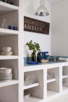 66 Ideas For Kitchen Interior Shelves Home Decor Kitchen, Rustic Kitchen, Kitchen Interior, Home Kitchens, Kitchen White, Kitchen Walls, Open Kitchen, Kitchen Island, Kitchen Ideas