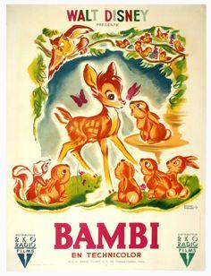 vintage Bambi poster