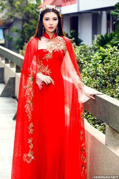 Mai Ka Ngọc Duyên diện áo dài cưới kiêu sa