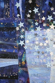 Night Quilting with Hertzsprung and Russell detail by Karen G. Fisher