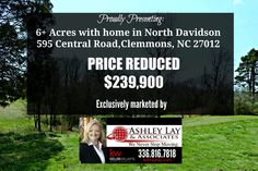 The PRICE has been REDUCED on this UNBELIEVABLE opportunity at the Forsyth/Davidson County line, in Clemmons in the North Davidson school district. This former portion of a dairy farm features 6.32 acres of open land and stately hardwoods. With over a decade of experience with buyers and sellers in the Triad area,the Ashley Lay & Associates team is your go-to source for all things real estate.​