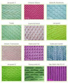 Slipped Stitch Patterns