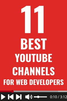 11 best YouTube channels for you to learn web development, regardless if you're a beginner or advanced developer. #webdevelopment #programming