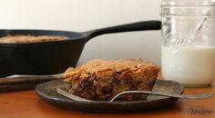 Skillet Chocolate-Chip Cookie. Get the recipe via @PureWow