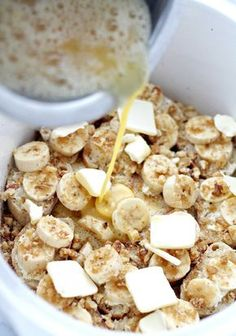 Save this brunch recipe to make Crock Pot Creamy Banana French Toast.