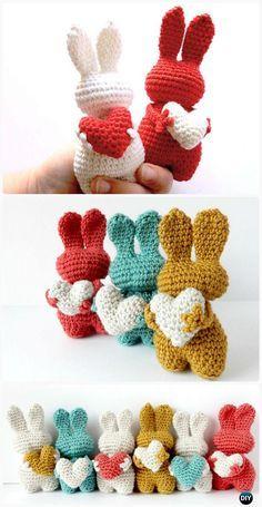 Crochet Amigurumi Valentin Bunny Toy Free Patterns