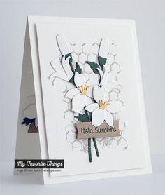 Distressed Background Blocks, Sunflower Sweetheart, Blueprints 13 Die-namics, Lily Die-namics - Inge Groot #mftstamps
