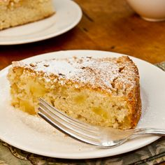 French Apple Cake Recipe Desserts, Afternoon Tea with all-purpose flour, baking powder, salt, unsalted butter, granulated sugar, large eggs, vanilla extract, dark rum, baking apples, confectioners sugar