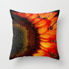 Pillow Cover Sunflower Pillow Bright Yellow by KalstekPhotography, $36.00