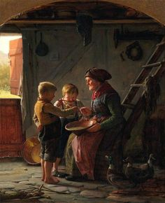 Carl Bloch - Lunch At Grandmother's House