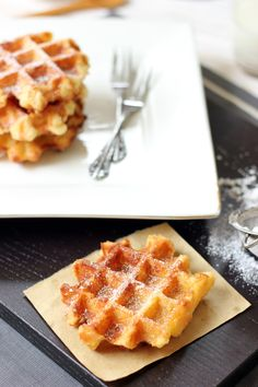 Liege Waffles - yeasted Belgian waffles, oh my! | Butter Baking
