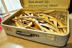 Repurpose: Hang on to your Wood Hangers! 16+ projects.