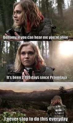 "#The100 4x13 ""Praimfaya"""