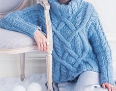 Sweaters & Vests – Bulky Cable Fisherman Sweater – a unique product by DenisesKnits on DaWanda