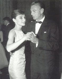 AUDREY HEPBURN and GARY COOPER.    (1950s)