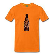 tee-shirt la bière c'est la vie ! à porter en toutes occasions, barbecue, apéro ..etc Shirt Shop, T Shirt, Barbecue, Tees, Mens Tops, Shopping, Fashion, C'est La Vie, Supreme T Shirt