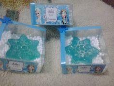 10 Lembrancinha Frozen Flocos De Neve Aniversario Sabonete