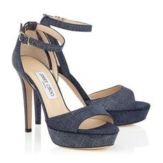 bec0bf8ef583 Jimmy Choo Kayden Denim Leather and Elaphe Platform  Sandals  women  style   shoes