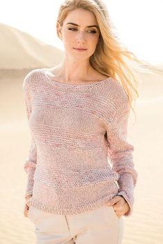 Clippedonissuu From Lana Grossa Filati - DIY & Crafts Sweater Knitting Patterns, Easy Knitting, Knitting Designs, Pullover Design, Sweater Design, Bag Crochet, Crochet Clothes, Stitch Hoodie, Knit Fashion