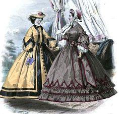 1861.  La Moniteur de la mode.  Edged dagging over ruffles.