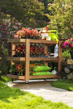 Ana White | Build a Home Depot DIH Workshop Rolling Storage Cart | Free and Easy DIY Project and Furniture Plans