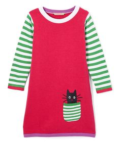 Look at this Pink & Green Stripe Shift Dress - Infant, Toddler & Girls on #zulily today!
