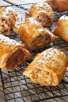 We love a sausage roll but it's hard to get good ones and even harder to know if the pork in them is free-range or organic. Far better to make your own for the party season. Sausage Recipes, Cooking Recipes, Sausage Pie, Pie Recipes, Pub Food, English Food, Appetisers, Charcuterie, Finger Foods