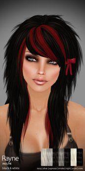 TRUTH HAIR Rayne -  black & whites