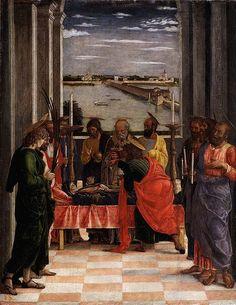 1460-1464: Andrea Mantegna: Death of the Virgin (Dormition of the Virgin) [Early Renaissance; Mantua, Italy]