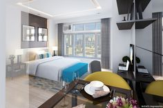 San Antonio Residence in Makati is the most affordable condo of Megaworld Corporation in Makati City. Makati City, Tomorrow Will Be Better, Condos For Sale, San Antonio, The Neighbourhood, Bed, Life, Furniture, Home Decor