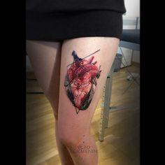 Anatomical heart done by Vlad Tokmenin // #heart #anatomicalheart #hearttattoo #anatomicalhearttattoo #тату #татуировка #сердце #татусердце