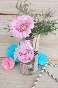 Muttertag Brunch Einladung in der Flasche 7