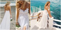 You can go Boho, you can go short, you can go body-con or you can go flowing – there are many styles of wedding dress to make you look and feel like a beach babe when we think about beach weddings. It's entirely up to you.  #beachwedding #wedding #weddingdress